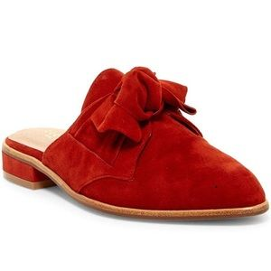 Cecelia New York red suede mules